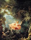 The Swing 1767 by Jean Fragonard